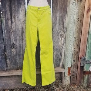 Highlighter Yellow Bootcut Jeans